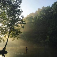 Green River Lake has over 33 miles of water laying between 250 miles of shoreline. Not a bad spot to cast a line and enjoy the view.  Photo by Instagrammer jlharden #travelKY #adventureky #kysummer #kystateparks #kentucky #fishing #greenriverlake
