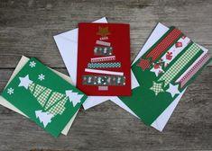 Inšpirácie na veľmi jednoduché vianočné pohľadnice, Tvorenie z papiera, fotopostup - Artmama.sk