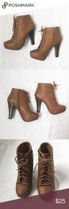 Charlotte Russe Brown Booties - Charlotte Russe - Size 7 - Worn a few times but in great condition Charlotte Russe Shoes Heels
