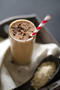This coffee smoothie is a non-morning person's dream come true. Packed with whole grains, fruit, and coffee, it has everything needed to get you going.