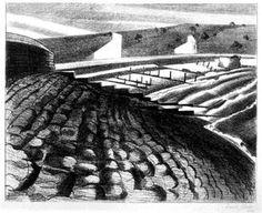 """The Strange Coast (Dymchurch)"" by Paul Nash, 1920 (lithograph)"
