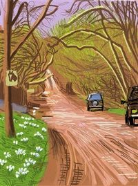 The Arrival of Spring in Woldgate, East Yorkshire in 2011 twenty eleven 5 March 2011 by David Hockney
