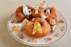 Cat Doughnuts [ 猫 ドーナツ  (ケーキ) ] by CarolineIngalls | made out of sweetened white bean paste (shiro-an) & glutinous rice (gyuhi).