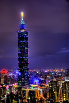 TAIWAN USES BEST OF WORLD'S HEALTH CARE: Taiwan  combined the best elements of 6 health care systems, including that of the USA. Pictured: Taiwan 101 skyscraper in Taipei, the capital.  Photo: Pinterest.com