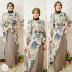 hijab fashion dress- modest hijab- Summer hijab fashion for teens www. Flowery Dresses, Modest Dresses, Trendy Dresses, Modest Outfits, Casual Dresses, Islamic Fashion, Muslim Fashion, Modest Fashion, Girl Fashion