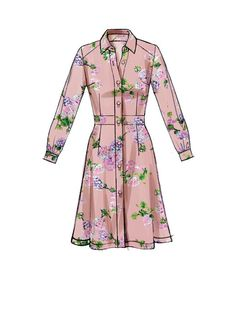 Misses\' Shirtdresses with Set-In Waistband, and Hem Variations Sewing Techn Dress Design Sketches, Fashion Design Drawings, Fashion Sketches, Shirt Dress Pattern, Dress Patterns, Afghan Patterns, Mccalls Sewing Patterns, Vintage Sewing Patterns, Fashion Drawing Dresses