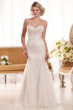 Essense of Australia D1853 available at Limelight Occasions. #essenseofaustralia #limelightoccasions #gatsby #fitandflaredress #wedding #bridal