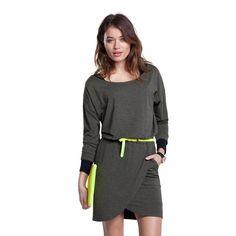 Sinclair Dress http://www.baukjen.com/uk/shop/edits/baukjen-new-arrivals/sinclair-dress-dark-grey-melange.htm #BaukjenNewSeason Great with neons and layers