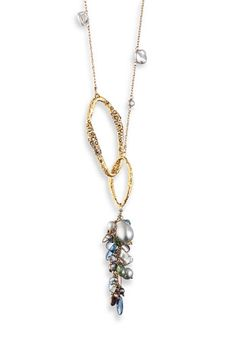 Alexis Bittar 'Elements' Pearl Cluster Double Link Necklace