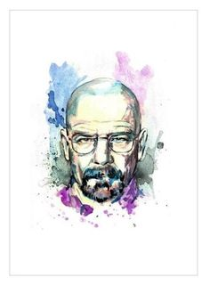 Breaking Bad Art - Walter White Original Art. $16.00, via Etsy.
