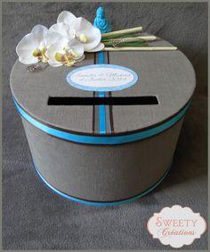 urne mariage thme zen bouddha asie chocolat et turquoise wedding - Urne Mariage Moto