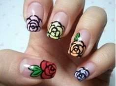 rose nails, but maybe just on one finger for me
