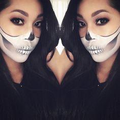 💀 | #skullmakeup #halloween @roziecheeks.mua