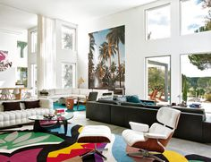 Every iconic mid-century piece of furniture in one room... and it looks AMAZING. :)