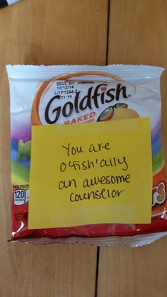 Camp counselor encouragement snack!