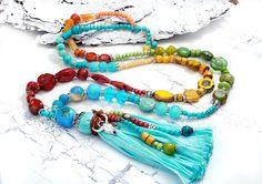 Charm- & Bettelketten - reserviert für Tanja ✿ wunderschöne Quastenkette ✿ - ein Designerstück von Lunas-SchmuckART bei DaWanda