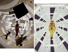Maurizio Cattelan: All, Guggenheim Museum, 2011/Stanley Kubrick, 2001: A Space Odyssey.    I couldn't help but see the parallels. It appears the Guggenheim Museum likes the analogy.