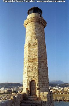 the turkish lighthouse in Rethymnon