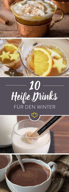 22 hot and cold drinks for the winter - Dessert Rezepte - Dessert im Glas und mehr - Cocktail Recipes Winter Desserts, Winter Drinks, Winter Food, Cold Drinks, Smoothie Drinks, Smoothie Recipes, Smoothies, Snacks Für Party, Vintage Recipes