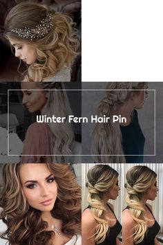 WINTER FERN HAIR PIN Classic and elegant. This simple hair piece is stunning. #gracecalliedesigns Easy Hairstyles, Wedding Hairstyles, Wedding Hair Side, Hair Piece, Ferns, Dreadlocks, Elegant, Hair Styles, Simple