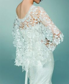 Lace Cover Up Wedding Cover Up Bridal Cover Up White by ctroum