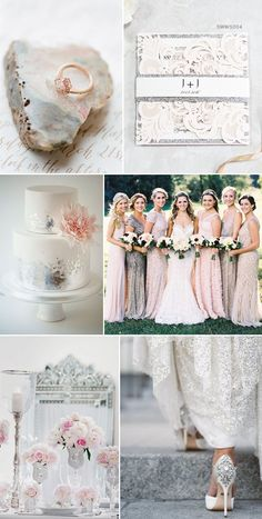 Fabulous Silver and Blush WeddiFabulous Silver and Blush Wedding Ideasng Ideas