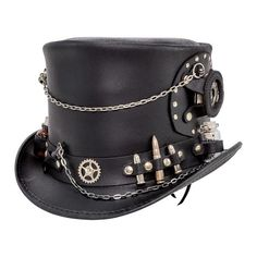 Steampunk Hatter Time Port Top Hat w/ Watch - American Hat Makers – Head'n Home Steampunk Hut, Steampunk Top Hat, Steampunk Clothing, Steampunk Fashion, Gothic Fashion, Steampunk Drawing, Steampunk Rings, Victorian Fashion, Leather Accessories