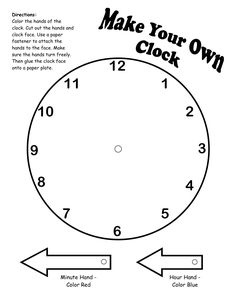 Use these worksheets to have your students demonstrate their make your own clock printable ibookread Download