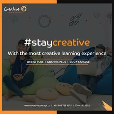 #StayCreative with most creative learning experience.  #makecareerwithcreativeconcept #staycreative #creativeconcept #joborientedcourses #UI #UX #UIUX #WEBDESIGNING #GRAPHICDESIGNING  http://creativeconcept.co/courses.html