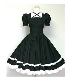 Gothic Lolita Dress Cute Goth Loli Dolly Dress-Custom made order. $85.00, via Etsy.