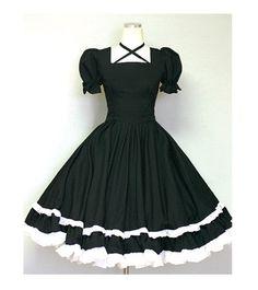 Gothic Lolita Dress Cute Goth Loli Dolly Dress-Custom made order. $85.00, via Etsy.