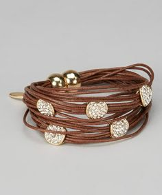 Take a look at this Brown Magnetic String Bracelet by In Things on #zulily today!