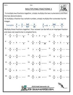 Fraction Math Worksheets Adding Fractions   Math