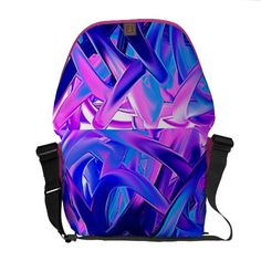 """Bag """"game"""" pink blue abstractly messenger bags"""