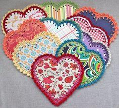 Crocheted Paper Heart Garland {tutorial}