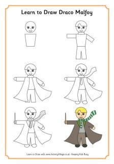 Learn to draw Draco Malfoy