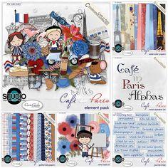 Cafe in Paris -bundle- #thestudio #DOTD #digitalscrapbooking