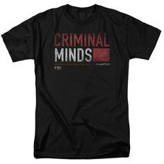 Criminal Minds/Title Card Short Sleeve Adult T-Shirt 18/1 in