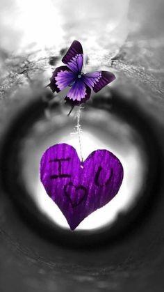 Heart Wallpaper, Butterfly Wallpaper, Love Wallpaper, Wallpaper Backgrounds, Wallpapers, Purple Love, All Things Purple, Shades Of Purple, Purple Butterfly