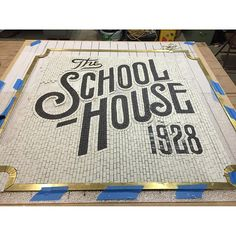The School House 1928 by Jon Contino & Sideshow Sign Co.