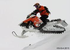 Geared up and riding hard. Polaris Snowmobile, Snowmobiles, Fun Stuff, Fun Things
