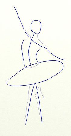 How to Draw a Ballerina, step 2