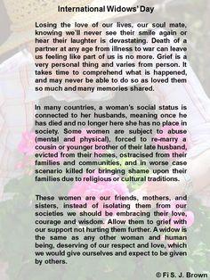 International Widows' Day international widow's day, grace disguis, widow wisdom, mooninadewdrop writtenword, intern widow