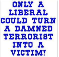 Only a liberal could turn a damned terrorist into a victim.