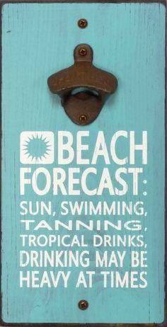 Beach Forecast Bottle Opener