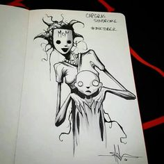 Inktober is an annual drawing challenge, but artist Shawn Coss has decided to focus his work on spreading mental health awareness through art. Creepy Drawings, Dark Art Drawings, Creepy Art, Arte Horror, Horror Art, Inktober, Art Sinistre, Mental Health Art, Art Du Croquis