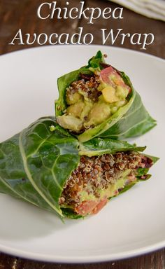 Chickpea Avocado Wrap