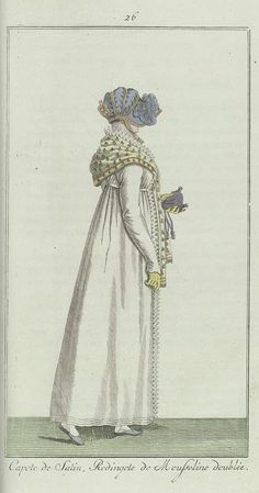 Elegantia, of tijdschrift van mode, luxe en smaak voor dames, November 1807, No. 26: Capote de Satin..., Anonymous, Evert Maaskamp, 1807