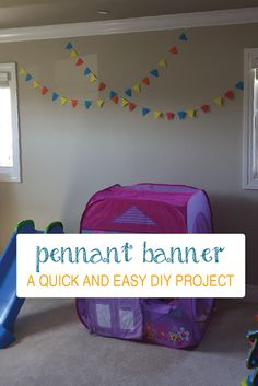Quick and Easy Colorful Pennant Banner   www.sprinkledwithcolor.com