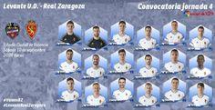 10.9.2016 – LIGA 2ªDIV. 2016/17 – JORNADA Nº 4 PARTIDO OFICIAL Nº 3295  LEVANTE 4-2 REAL ZARAGOZA  Real Zaragoza